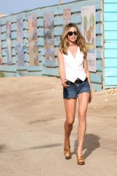 "Abbey Clancy - ""Britain's Next Top Model"" Filming in Cape Verde 05/09/2017"