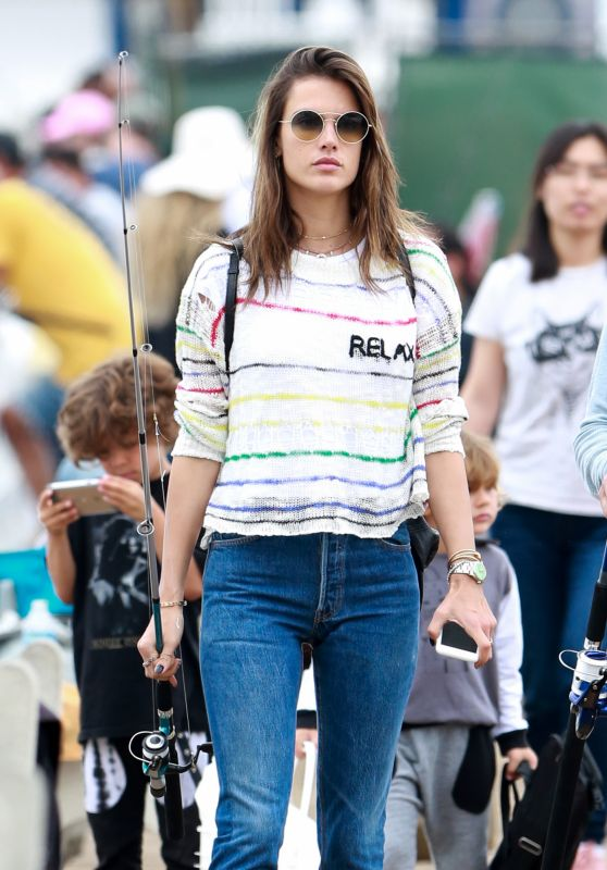 Alessandra Ambrosio - Goes For a Spot of Sea Fishing at the Malibu Pier 05/29/2017