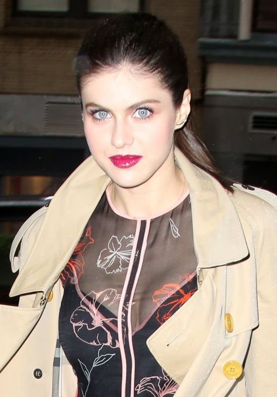 Alexandra Daddario - Arrived at AOL Live in NYC 05/25/2017