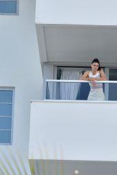 Alexandra Daddario at a Balcony in Miami, Florida 05/14/2017