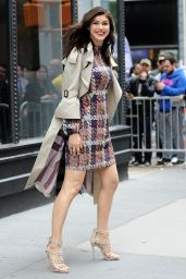 Alexandra Daddario in Mini Dress - New York City 05/24/2017