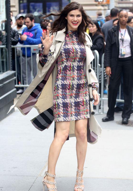 Alexandra Daddario in Mini Dress - New York City 05/24/2017