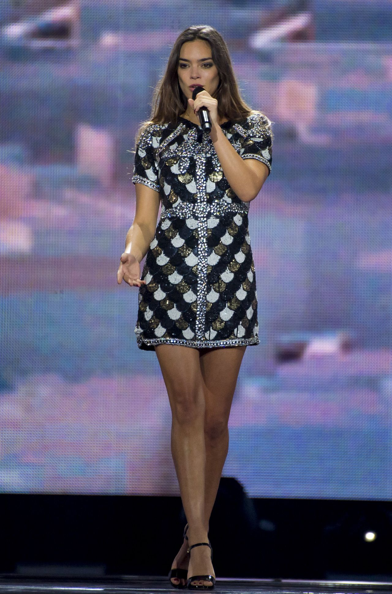 Alexandra Maquet Rehearsing At The Eurovision Song