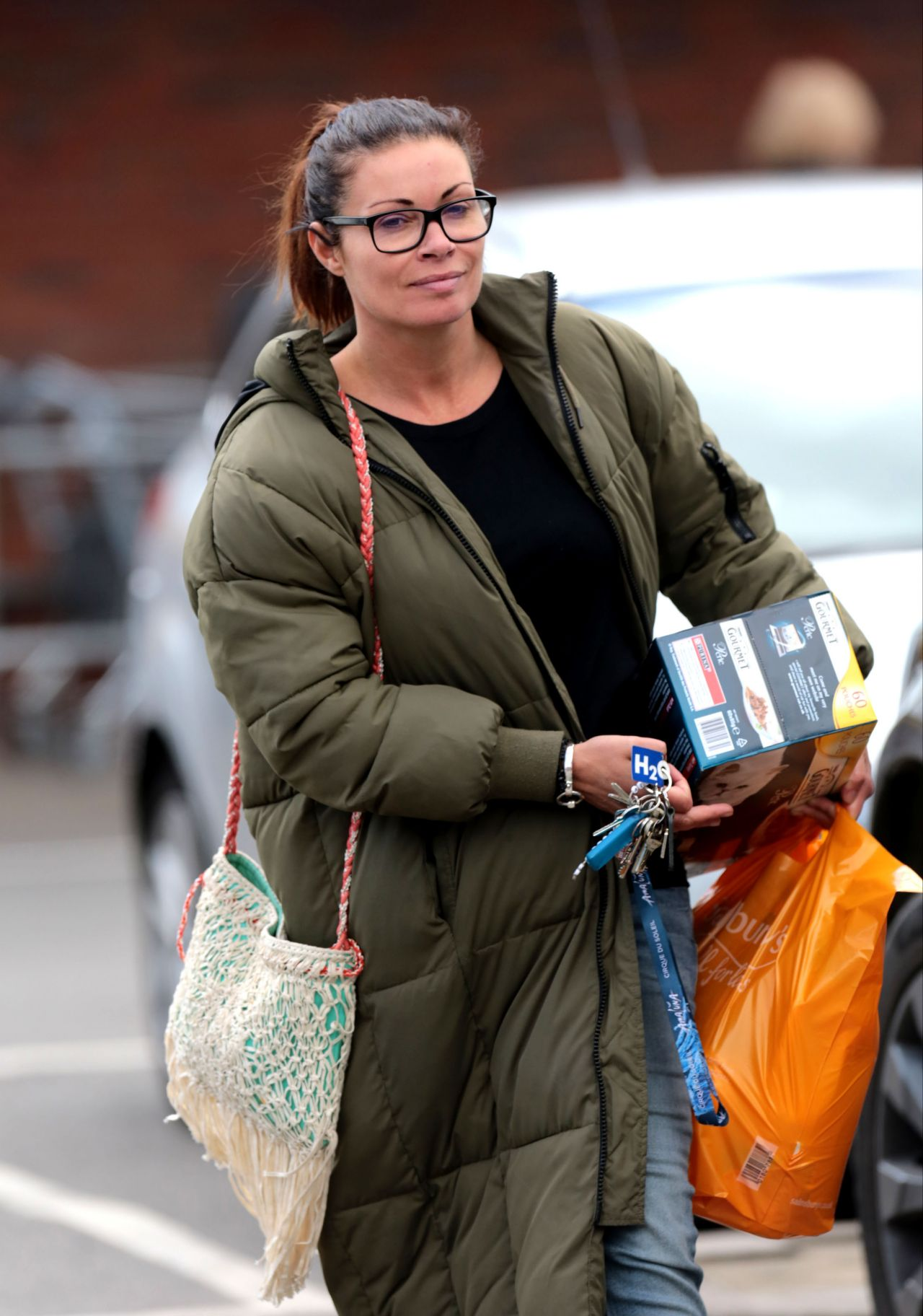 Alison King Leaving Sainsburys With Her Grocery Shopping
