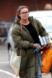 Alison King - Leaving Sainsburys With Her Grocery Shopping, Wilmslow 05/08/2017