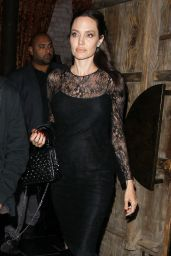 Angelina Jolie Night Out Style - Leaving TAO Beauty & Essex in West Hollywood 05/14/2017