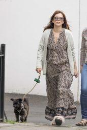 Anna Friel - Walks Her Dog in Windsor, Canada 05/16/2017