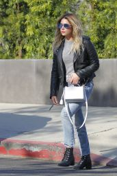 Ashley Benson Gets Her Hair Done - Beverly Hills 05/09/2017