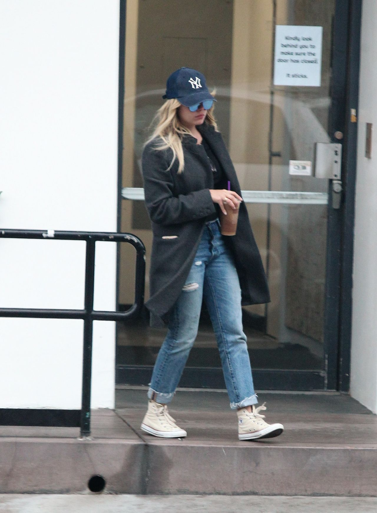 Ashley Benson Street Style - Leaving Coffee Bean in Los ...