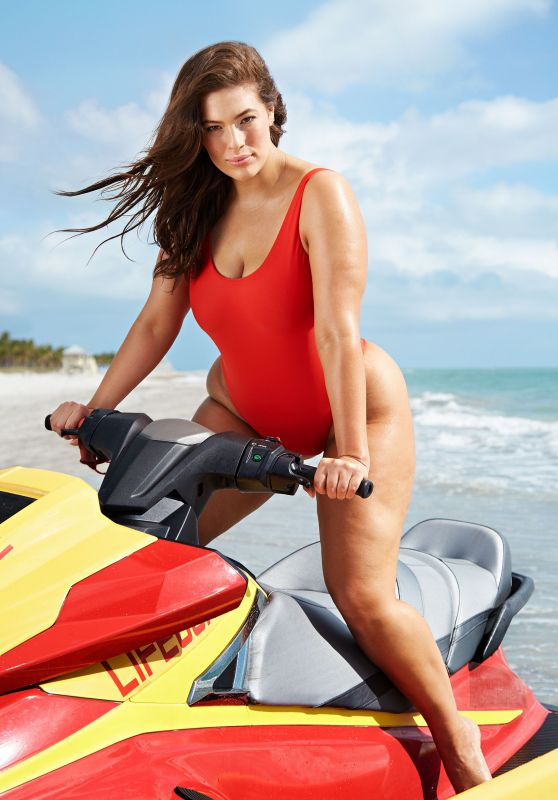 Ashley Graham Channels Baywatch for Swimsuits for All - May 2017