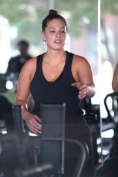 Ashley Graham Gets a Sweaty Workout in Los Angeles 05/24/2017