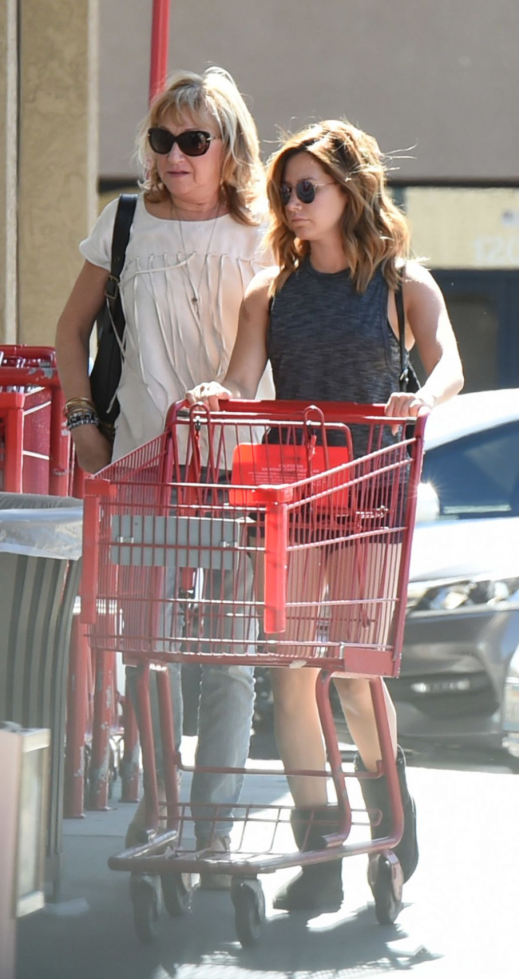 Ashley Tisdale - Grocery Shopping With Her Mom at Whole ...