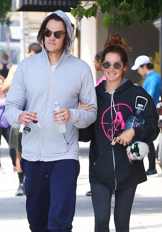 Ashley Tisdale - Leaving the Gym with Christopher French in Studio City 05/30/2017