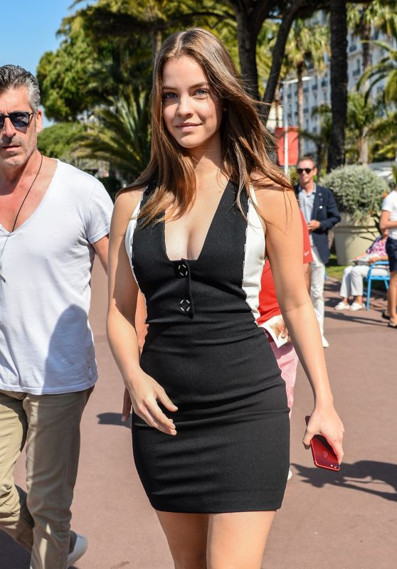Barbara Palvin in Mini Dress - Cannes, France 05/24/2017