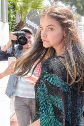 Barbara Palvin - Walks to a Photoshoot on the Promenade de la Croisette, Cannes 05/24/2017