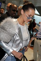 Bella Hadid - Arriving at the Nice Airport in France 05/16/2017