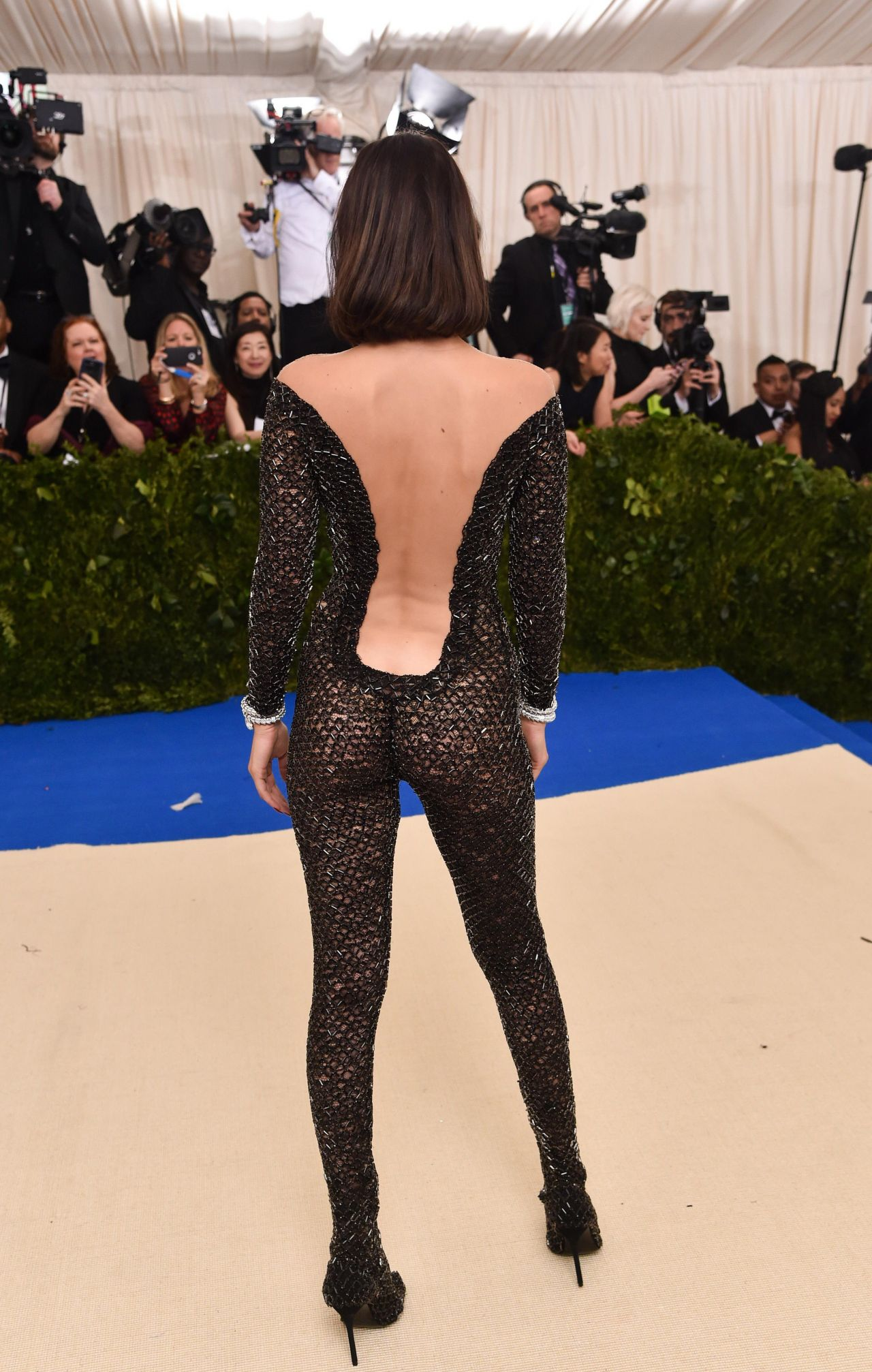Naked Dresses at Met Gala Red Carpet: Kendall Jenner