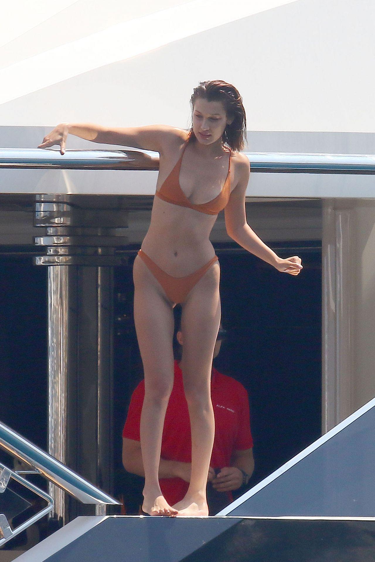 Bella Hadid In A Bikini On A Yacht In Cannes 05 29 2017