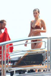Bella Hadid in a Bikini on a Yacht in Cannes 05/29/2017