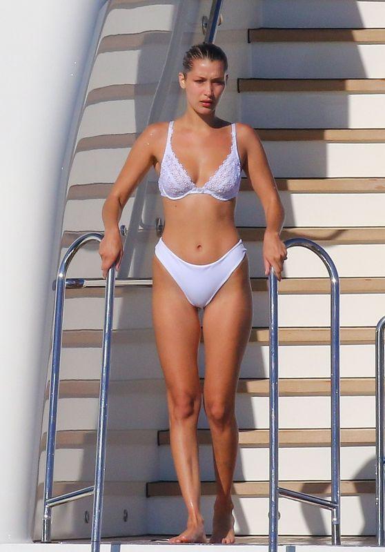 Bella Hadid in Bikini on a Yacht, Cannes 05/20/2017