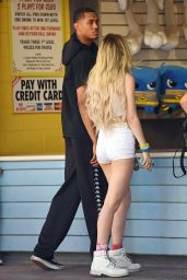 Bella Thorne at Magic Mountain in Valencia, California 05/05/2017