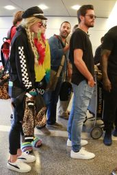 Bella Thorne with Scott Disick and Dani Thorne - LAX Airport in LA 05/22/2017