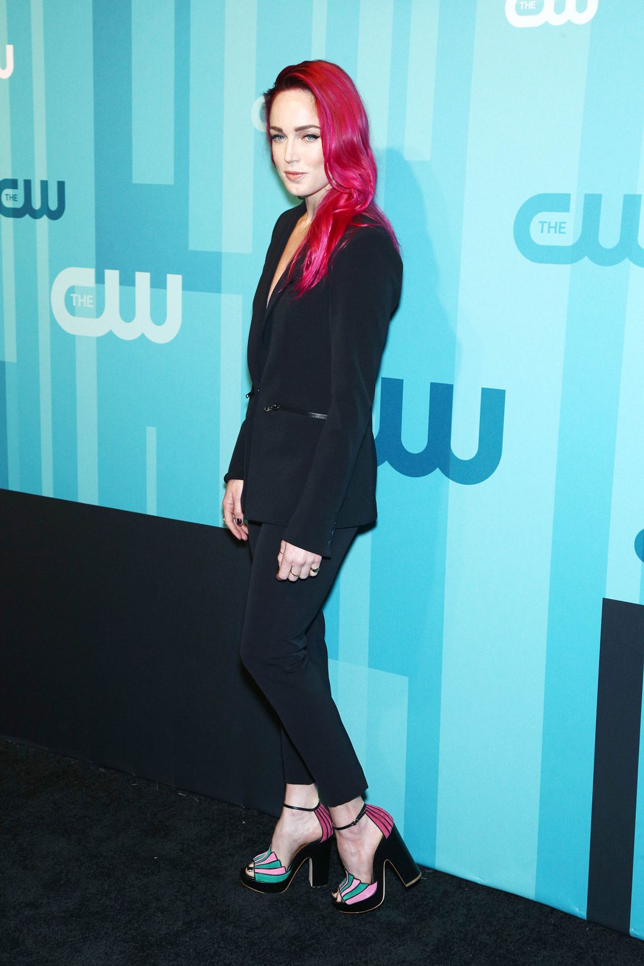 Caity Lotz attends The CW Networks New York 2015 Upfront