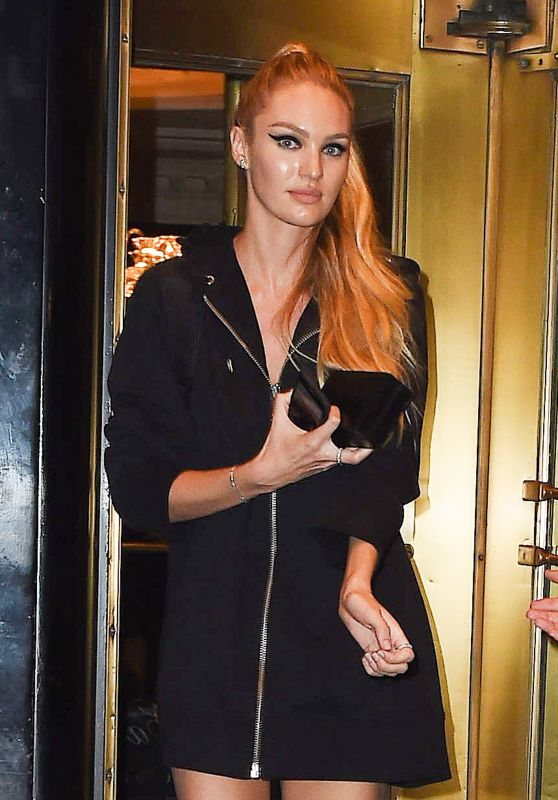 Candice Swanepoel Leaves Her Hotel in NYC 05/01/2017