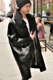 Cara Delevingne Arrives at Milk Studios in New York 04/30/2017