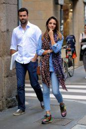 Caroline Celico and Eduardo - Out in Milan, Italy 05/11/2017