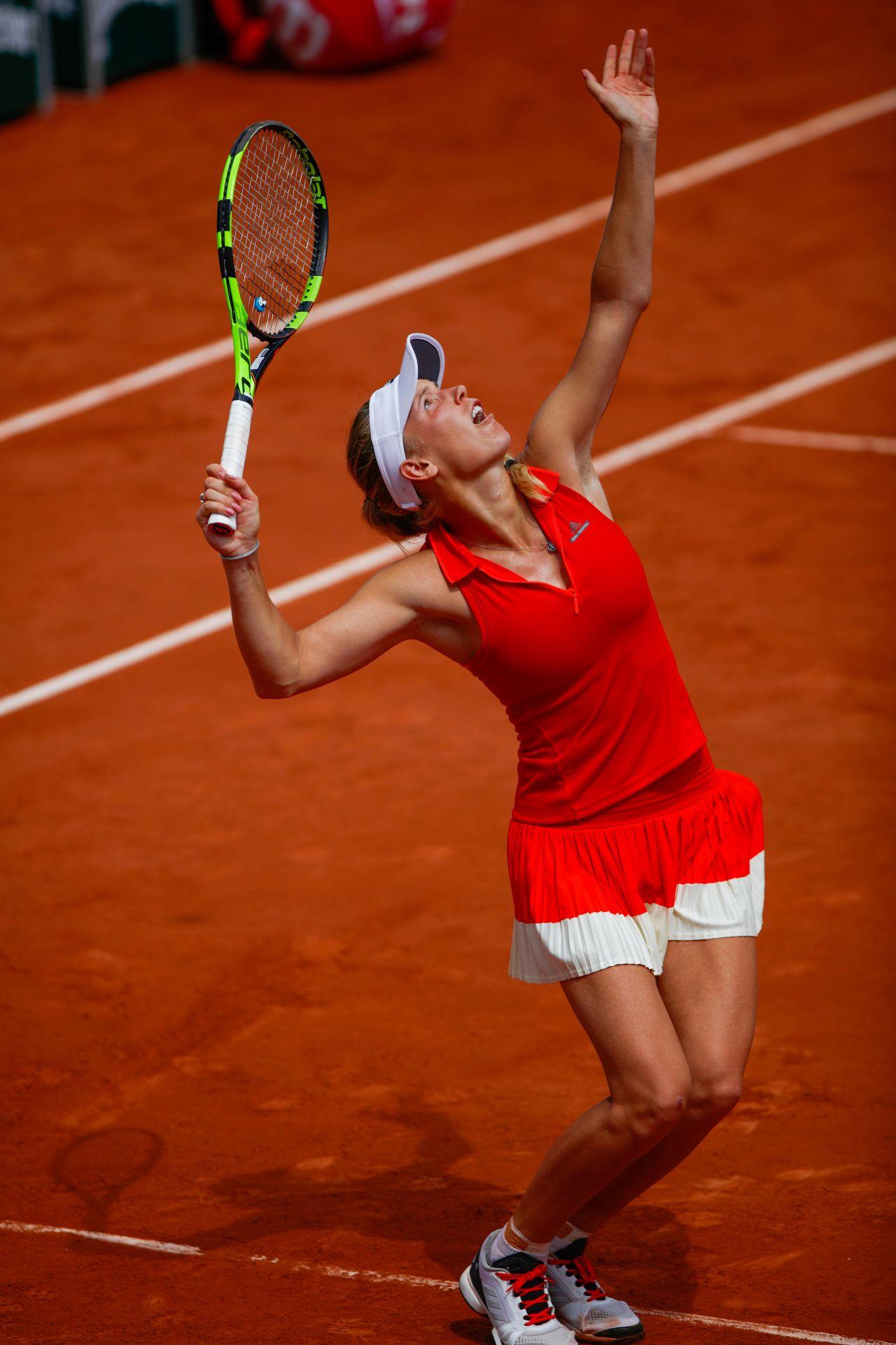 Caroline wozniacki french open tennis tournament in roland garros paris 05 29 2017 - Roland garros 2017 schedule ...