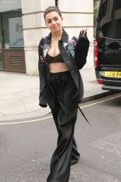 Charlie XCX - Arrives at BBC Radio 1 in London 05/11/2017