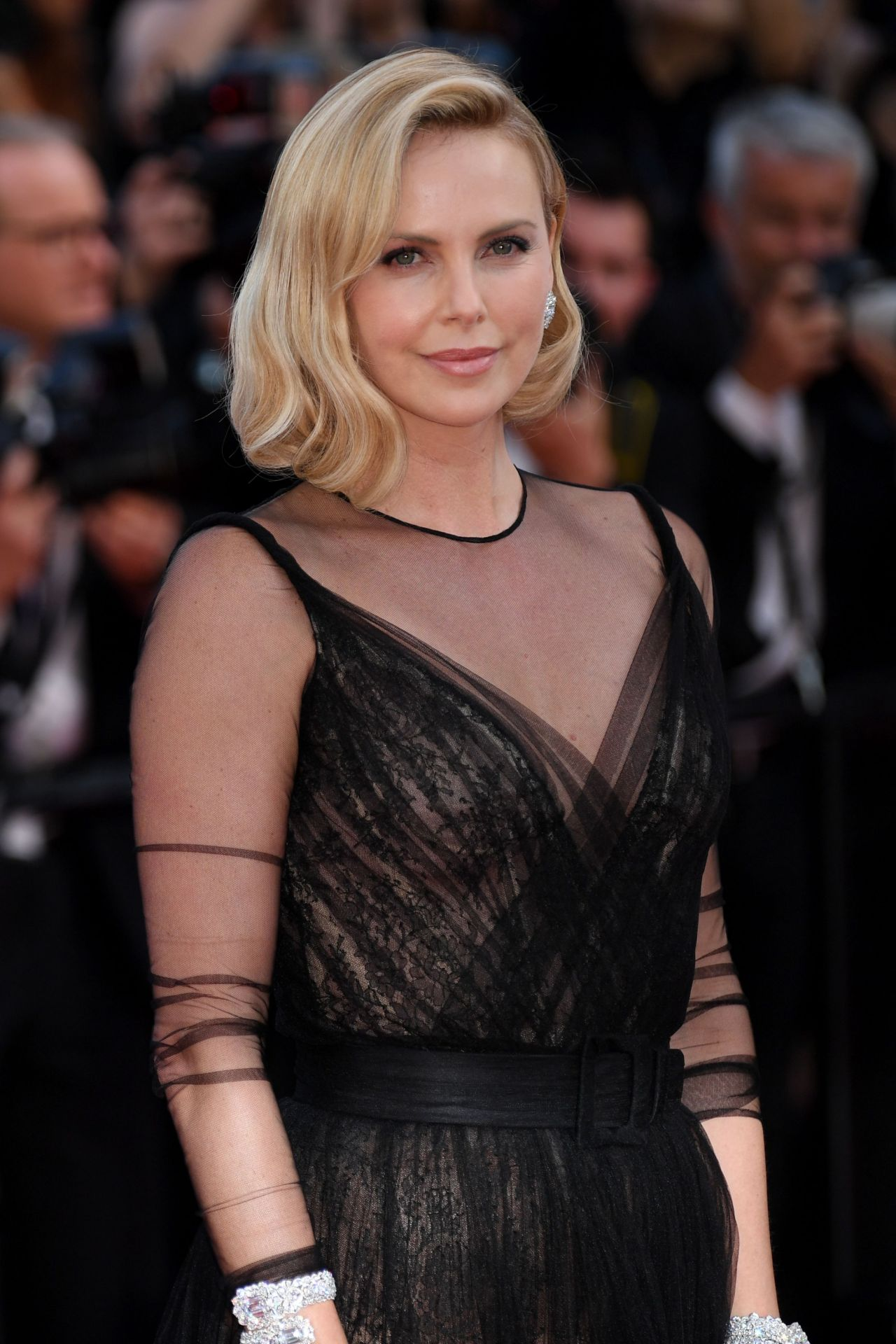 Charlize Theron In Versace For British Vogue: Anniversary Soiree