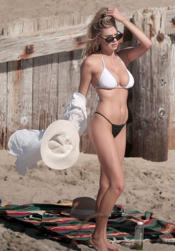 Charlotte McKinney Hot in Bikini - Beach in LA 05/29/2017