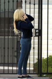Chloe Grace Moretz Street Style - Talks on the Phone, Los Angeles 05/18/2017