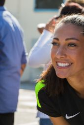 Christen Press - Announcement of Soccer for Success Program in East Los Angeles, May 2017