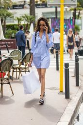 Cindy Bruna Street Style - Spotted on the Croisette in Cannes 05/27/2017