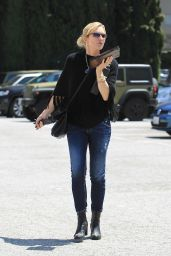 Courtney Thorne-Smith in Casual Attire - Shopping in Beverly Hills 05/18/2017