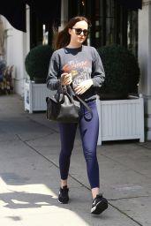 Dakota Johnson in Tights - Heading to Cafe Midi in Los Angeles 05/08/2017