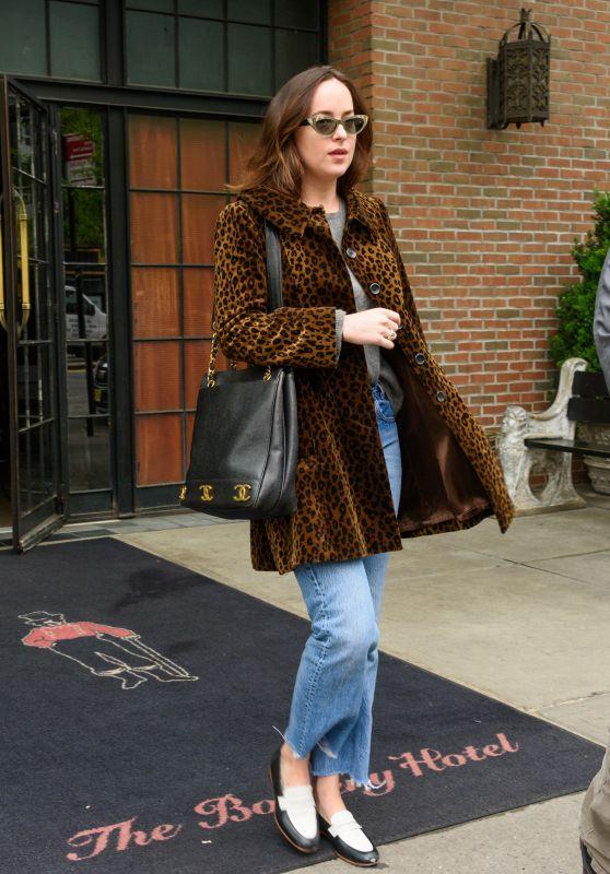 Dakota Johnson Leaving the Bowery Hotel in NYC 05/01/2017