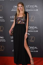 Daphne Groeneveld on Red Carpet – L'Oreal 20th Anniversary Party in Cannes 05/24/2017