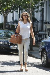 Elizabeth Hurley Casual Style - Leaves Her House in London 05/30/2017