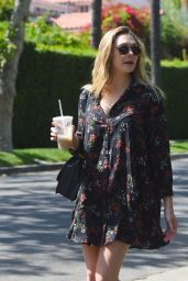 Elizabeth Olsen - Gets Iced Coffee With Her Friend in West Hollywood 05/16/2017