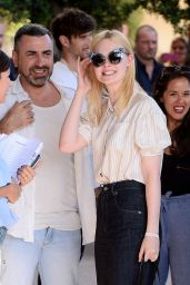 Elle Fanning Arriving at the Martinez Hotel in Cannes, France 05/16/2017