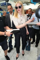 Elle Fanning – Arriving at the Nice Airport in France 05/16/2017