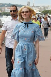Elle Fanning at Croisette during the 70th Cannes Film Festival in France 05/18/2017