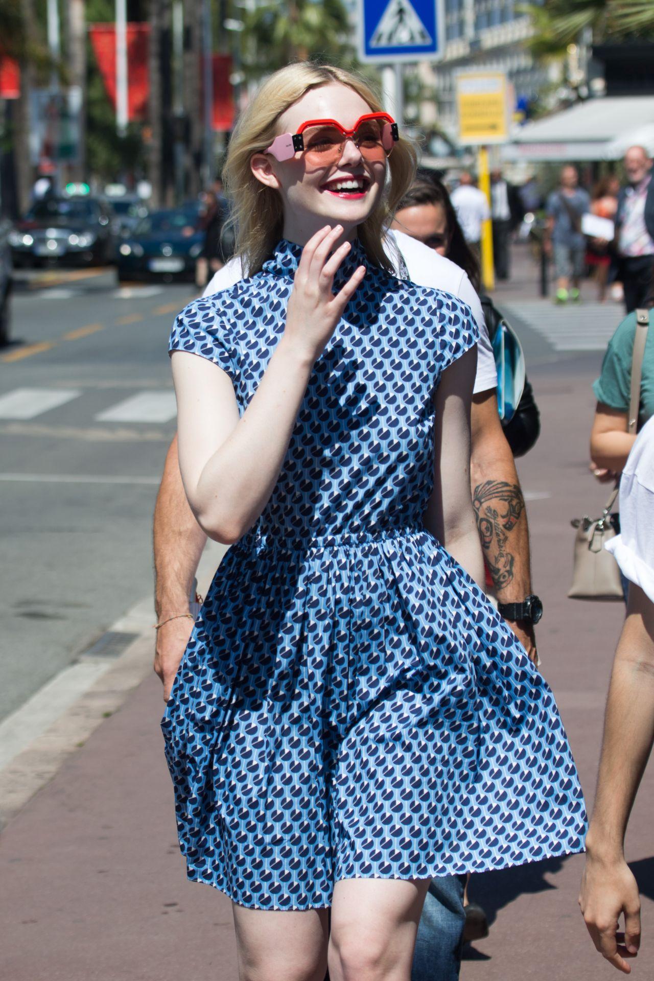 Elle Fanning at Croisette in Cannes, France 05/17/2017