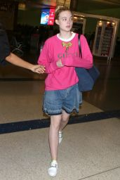 Elle Fanning at LAX Airport in LA 05/25/2017