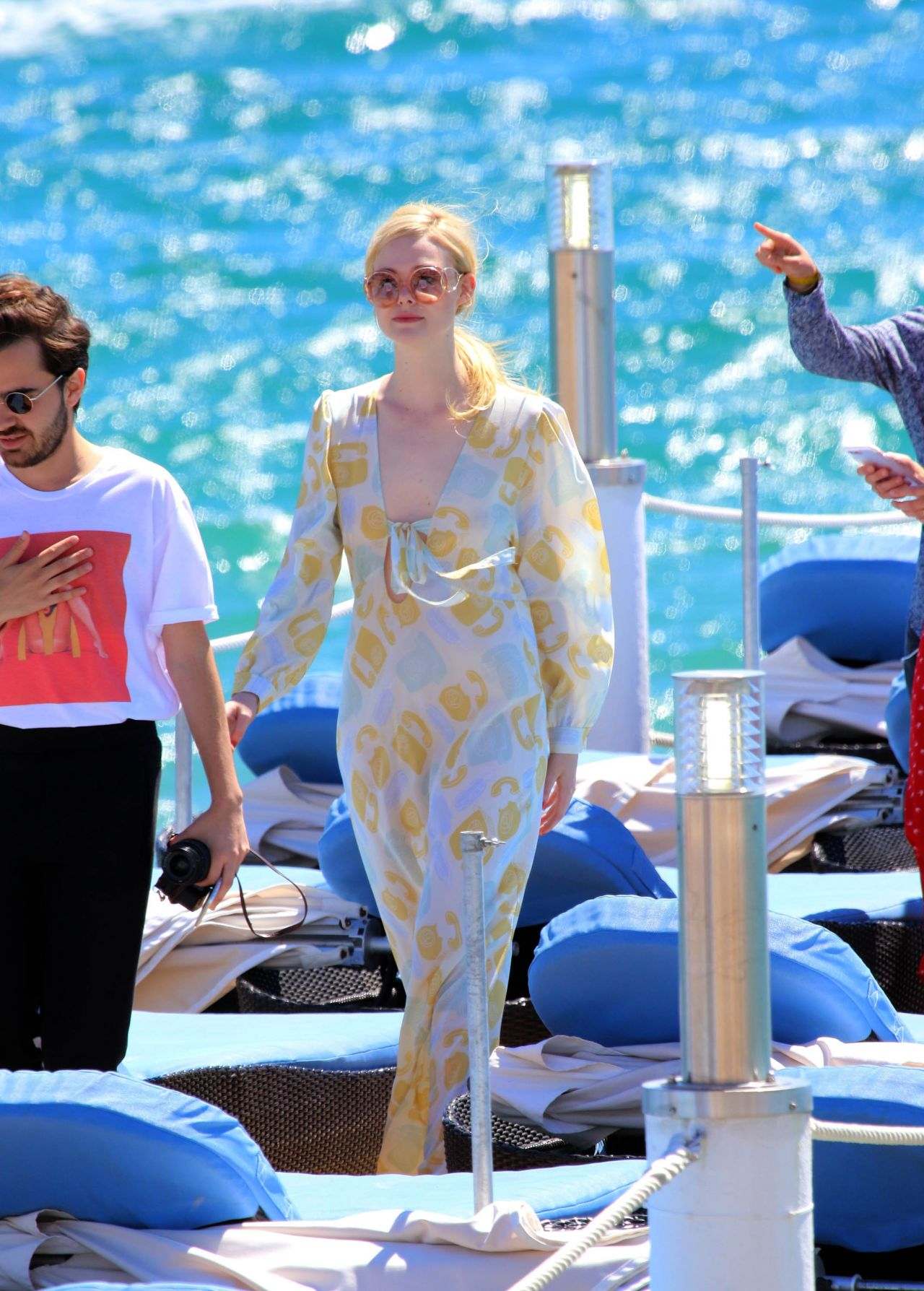 Elle Fanning Photoshoot On The Beach In Cannes France
