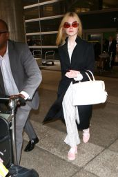 Elle Fanning Style and Fashion Inspirations - LAX Airport in LA 05/07/2017